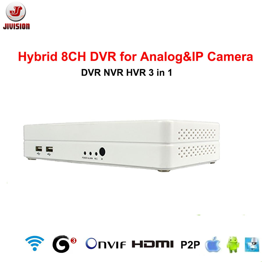 ONVIF mini NVR 8CH Hybrid DVR HDMI 1080P H.264 P2P Cloud network video recorder nvr 8ch CCTV DVR 8 Channel(China (Mainland))