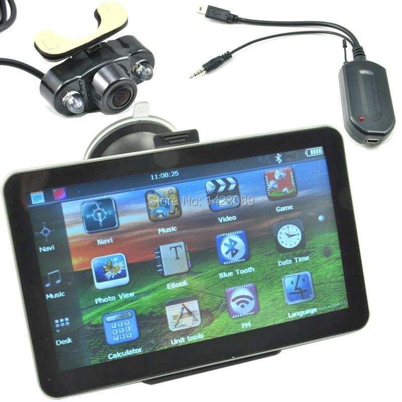 7 inch gps navigation av in navitel russia HD Bluetooth FM +Wireless Backup Camera Kazakhstan, tajikistan, azerbaijan(China (Mainland))
