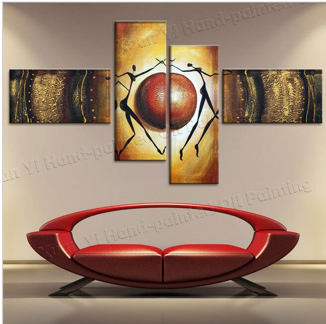 100% Hand Made Abstract Sky Dance Beauty High Q. Abstract Wall Decor Oil Painting On Canvas Wall Decorations Living Room(China (Mainland))