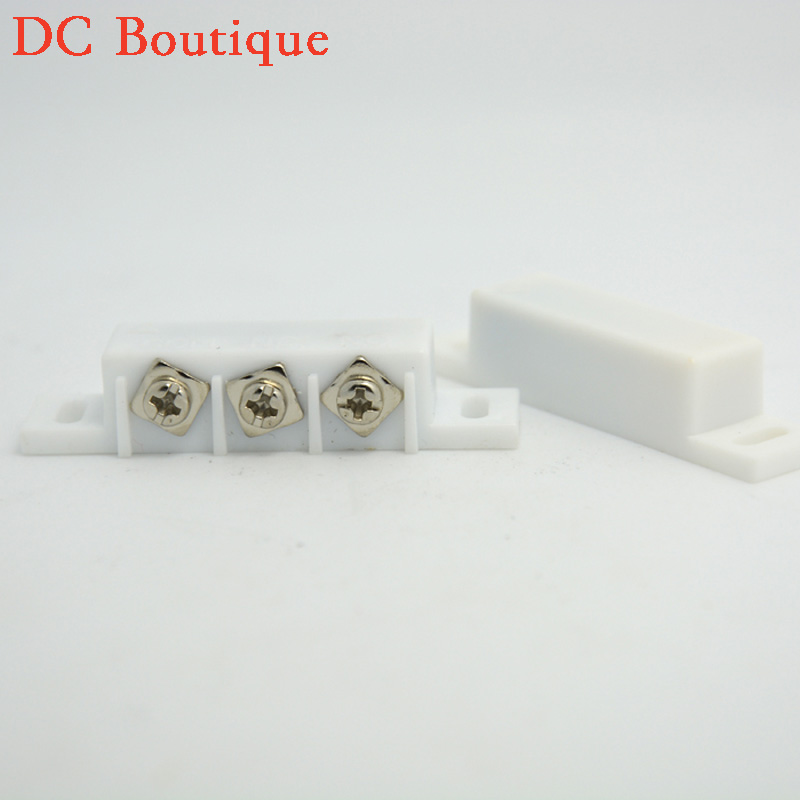 (10 pairs)Wired Plastic Magnetic switch Door Window Open detector NC/NO optional output Alarm accessories Chest Lamp Sensor(China (Mainland))