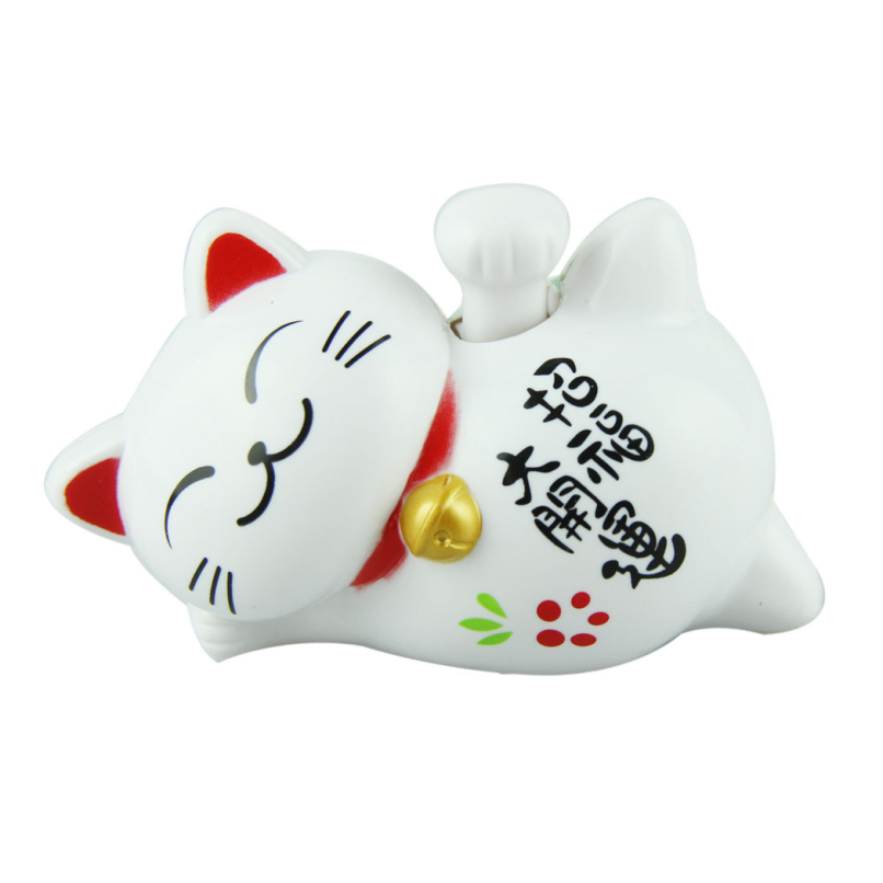 """Attractive Cute 4"""" Length Solar Lucky Smile Cat JE24(China (Mainland))"""