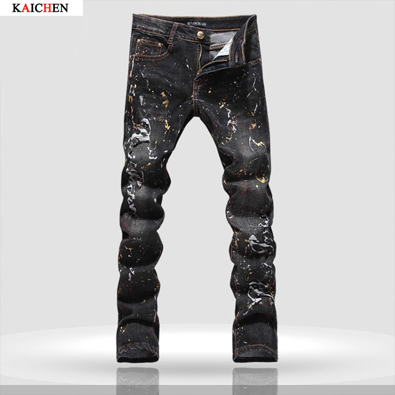 High Quality Slim Fit Black Jeans Men Promotion-Shop for High ...
