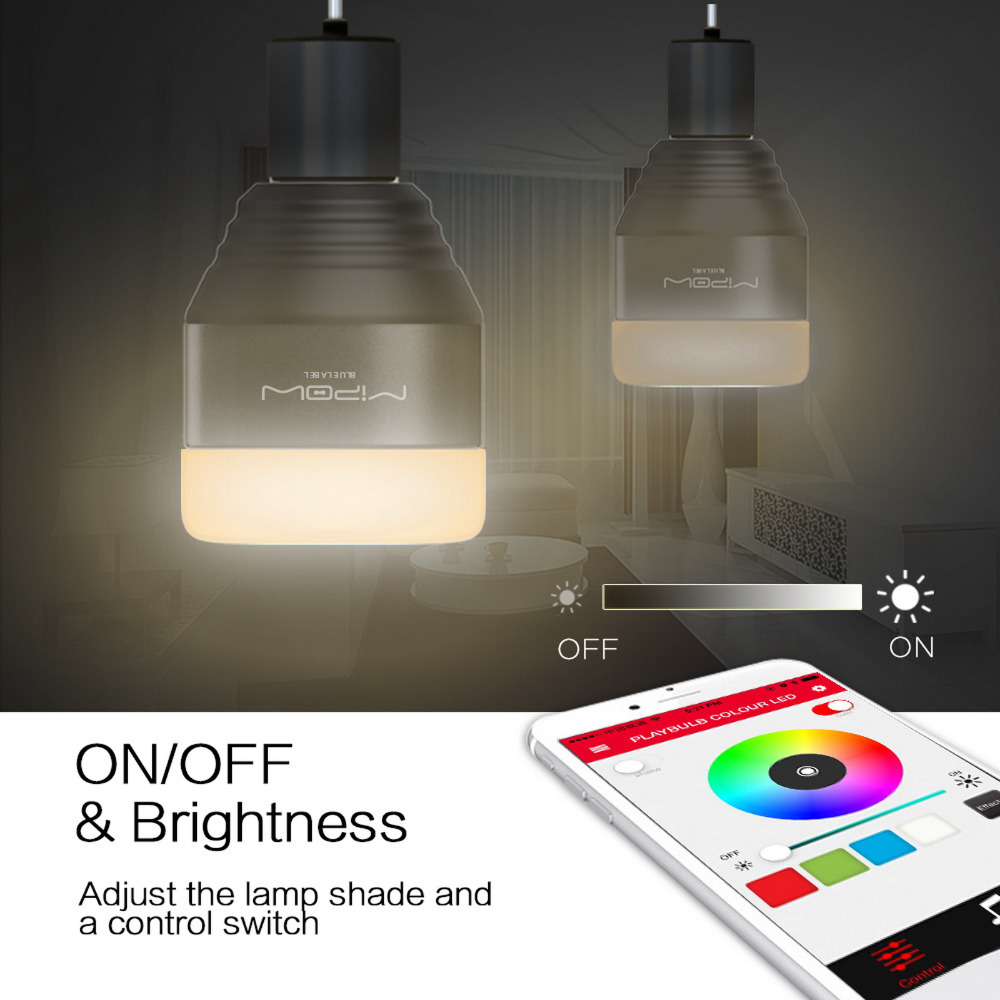 Christmas Lights You Control With Your Phone: MIPOW Bluetooth Smart LED Light Bulbs APP Smartphone Group