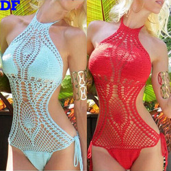 Crochet One Piece Swimsuit Summer Style Sexy Swimwear 2015 Hot Sale Maillot De Bain Hollow Swimming Suit For Women Sexy Mono L