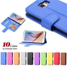 S6 PU кожаный бумажник чехол дисплей фото откидная крышка для Samsung Galaxy S6 G9200 всего тела защитить сумка карт памяти S6 кожаный чехол