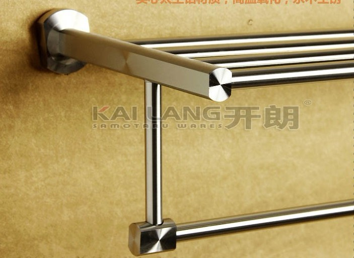 aluminum slatted bath shelf and towel rail bathroom accessories