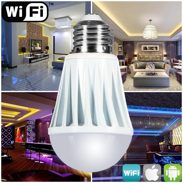 zigbee bluetooth wifi control smart led light wifi led lamp e27 7w rgbw color changing timer music led bulb(China (Mainland))