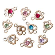 Buy 8SEASONS Acrylic Connectors Findings Heart rose gold color Random Faceted 22mm x 16mm,50 PCs 2016 new for $4.27 in AliExpress store