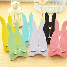 Cute Lovely Rabbit Animal Cellphone Socket Wooden Dock Stand Holder Universal Mobile Phone Stand Wood Holder Charging Bracket