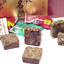 Chinese Tea Blocks Yunnan Mixed Tastes Tea Best Gift Different Type Green and Black Tea Glutinous