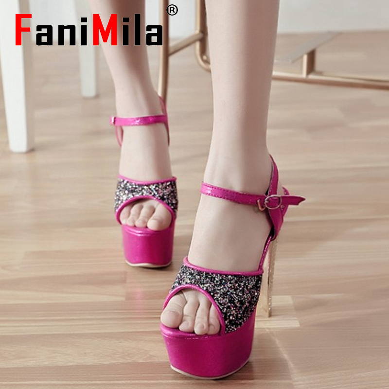 women stiletto ankle strap platform high heel sandals brand sexy fashion ladies heeled footwear heels shoes size 33-40 P17651<br><br>Aliexpress