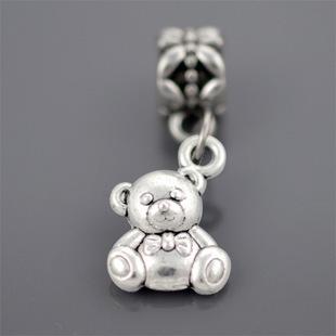 Free Shipping 1Pc Silver Bead Charm European Silver with bear Charm Pendant Bead Fit Pandora Bracelet & Gift