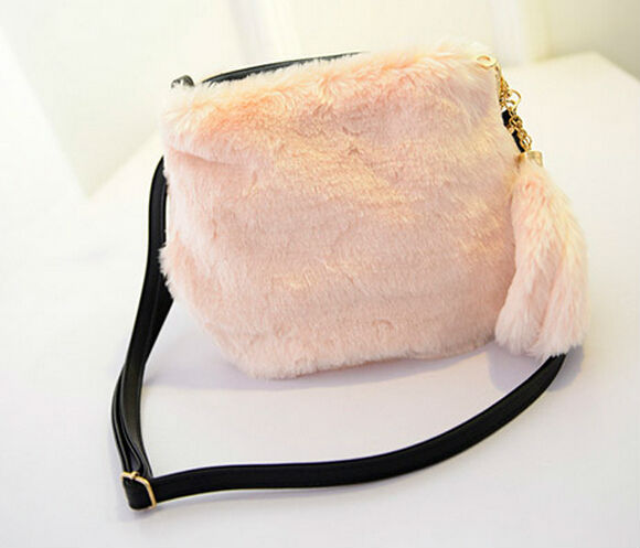 New collection 2015 Winter Sale handbags Lovely long-haired fur plush bag Messenger bags small bag tide,brand design women purse(China (Mainland))
