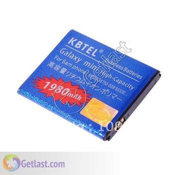 BLUE 1980MAH REPLACEMENT BATTERY FOR SAMSUNG Galaxy Mini S5570/S5750/S5330/S7230/Star II C6712/I559  5PCS/LOT