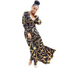 Buy Vestidos 2017 Spring Summer Autumn Winter Women Elegant Bohemian Maxi Dress Sexy Casual Long Sleeve Slim Chain Print Bodycon Dress Plus Size for $16.92 in AliExpress store