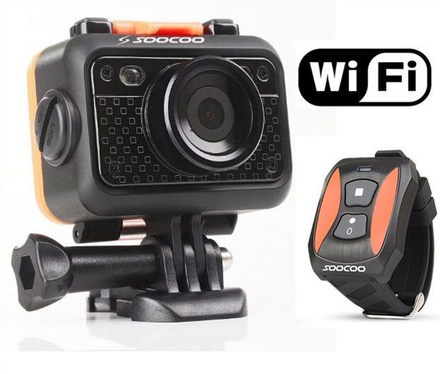 Original SOOCOO S70 Sport Action Camera 2K@30fps 1080p@60fps 60M Waterproof mini Video Build-in WIFI with Watch Remote Control(China (Mainland))