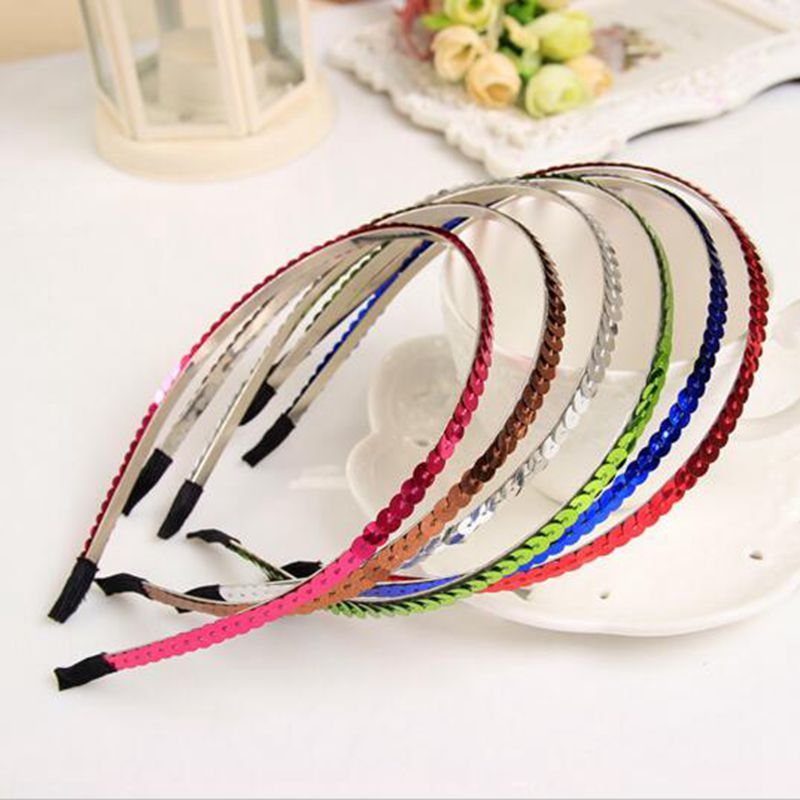 New Small Round Acylic Circles Connected Hairbands Headband for Girls Headwear Hair Accessories for Women(China (Mainland))