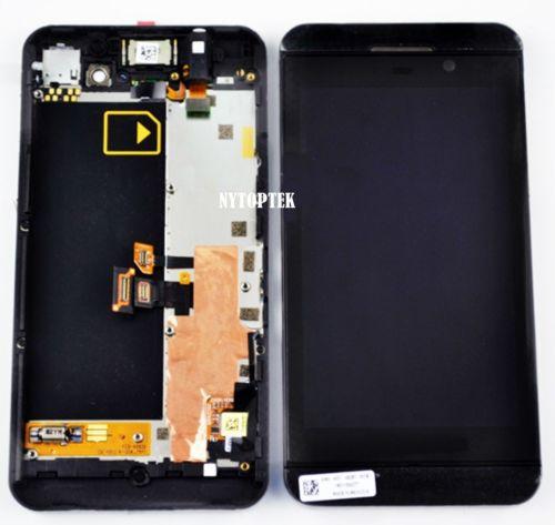 Touch Screen LCD Digitizer Frame Assembly Replacement For Blackberry Z10 3G Blackberry_Z10_LCDAssemlbyFrameBlack(China (Mainland))