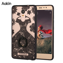 Aokin Fashion Ring Holder Stand Phone Cases For xiaomi redmi 3s note 3 Case For xiaomi mi5 Max Beautiful Lace Flowers Cover(China (Mainland))