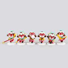 6pcs Cute Sun Wukong 7-8cm The Monkey King Figures Handsome Monkey King The Journey To The West Super Hero Toys Gift