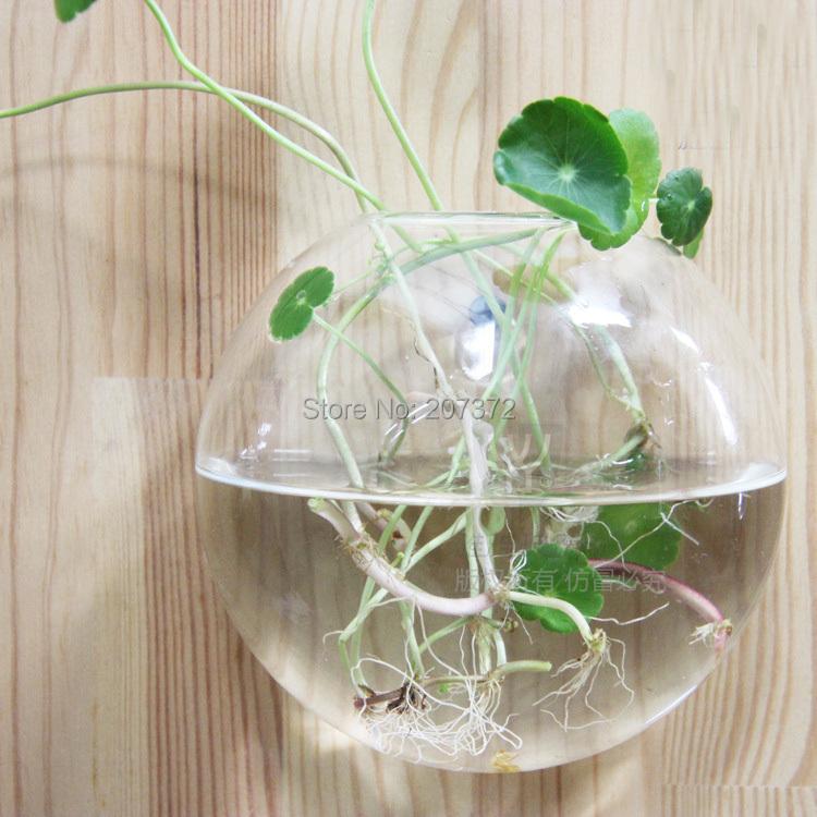 acheter 2 pcs lote 12 12 cm cristal transparent verre fleur plante vase. Black Bedroom Furniture Sets. Home Design Ideas