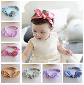 kid newborn baby girls headband elastic hair head bands wraps rabbit bunny ears headbands dot turbante accessories headwrap 2015(China (Mainland))