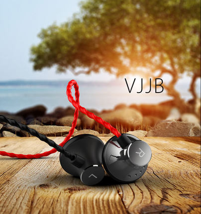 headset headset Original VJJB C1 Diy hifi metal earphones heatshrinked mobile phone mp3 bass headset without microphone(China (Mainland))