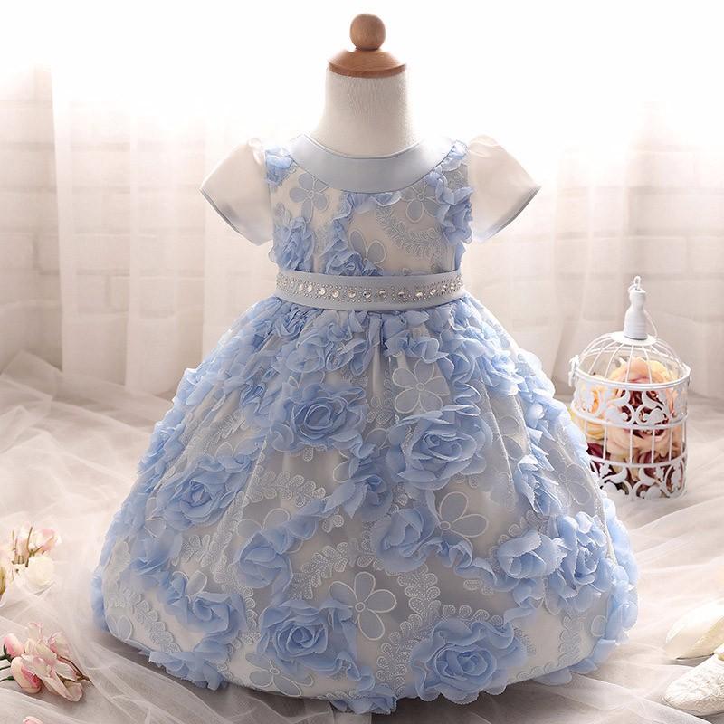 Baby Girls Dress 2016 New Fashion Kids Princess Birthday Party Tulle Wedding Dresses Christmas Dress Newborn Infant Clothes 0-2Y-1