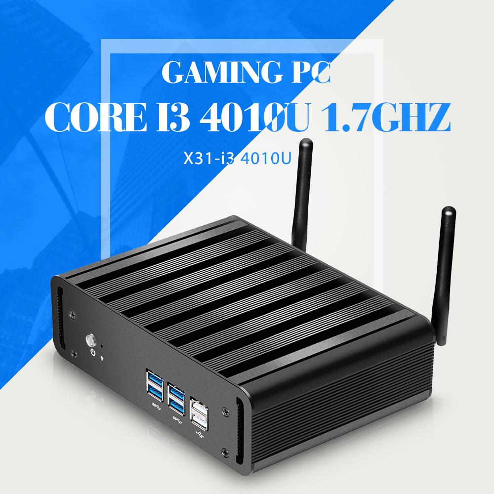 Mini Computer Fanless Mini PC Windows10 Core I3 4010U industrial PC Rugged PC Mini Computador(China (Mainland))