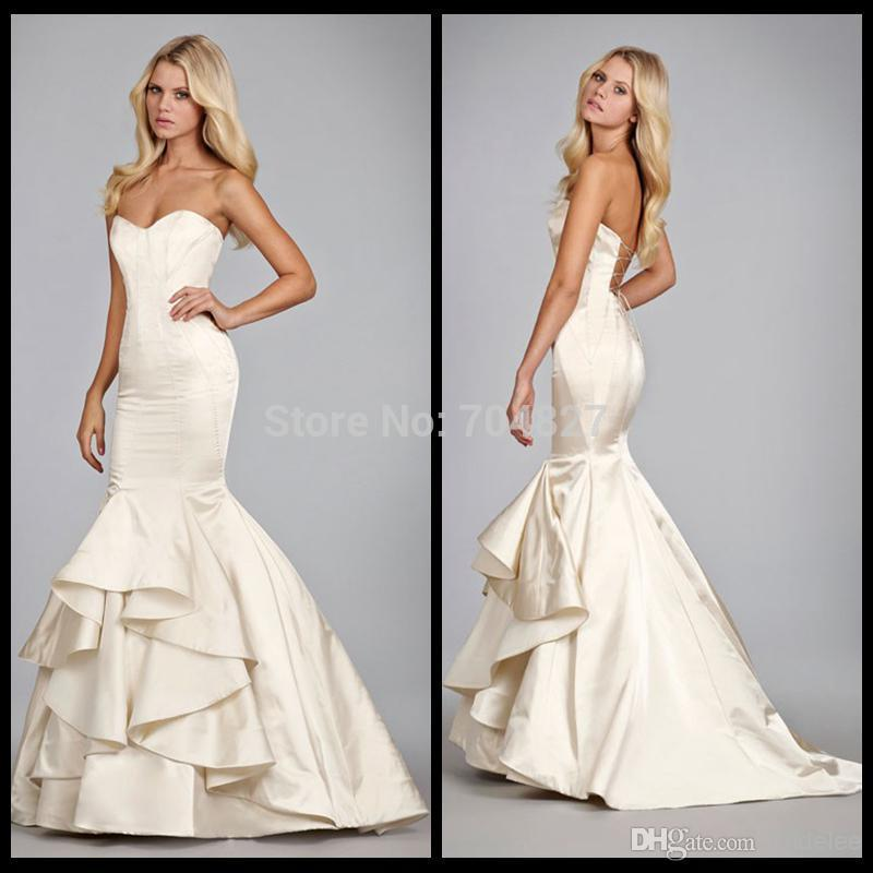 Cheap mermaid wedding dressesvestido de noiva 2015 sexy for Satin sweetheart mermaid wedding dress