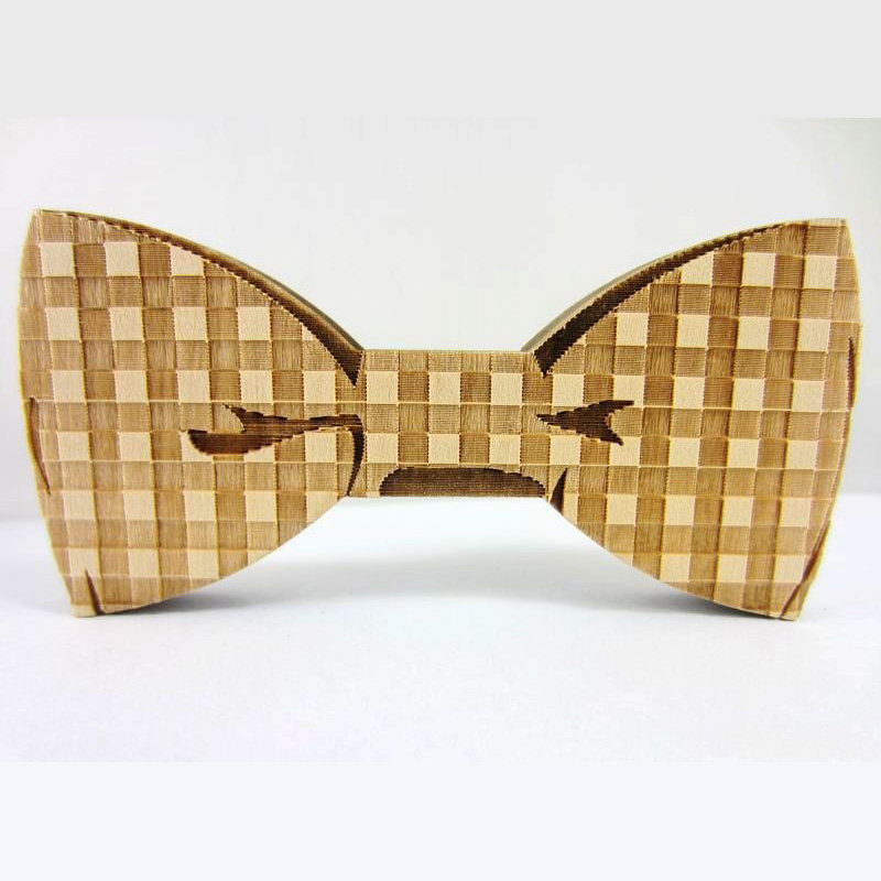 Retro Men's Banquet Casual Mens Cravat For Wedding High Quality Handmade Bow Ties Good Wooden Bow Tie Necktie(China (Mainland))