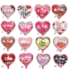 High Quality 10pcs/lot 18'' I LOVE YOU Balloon Valentine day Wedding Decorations party supplies Heart shape love foil balloons(China (Mainland))