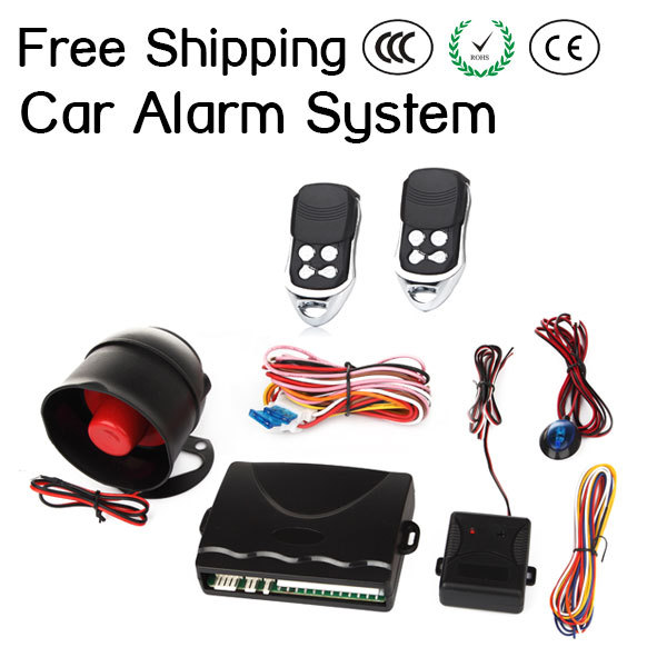 1-Way Car Auto Alarm Protection Security System Keyless Entry Siren +2 Remote Control Burglar + Original PackageFree Shipping<br><br>Aliexpress