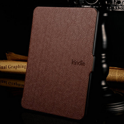 Slim Fashion Cover For Amazon Kindle Paperwhite Case 6'' Ereader Cross Pattern Leather Case for Kindle Paperwhite Cover E-book(China (Mainland))