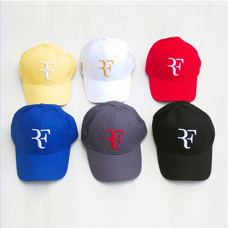 Roger Federer RF brand new leisure tennis hat gorras planas men and women 9 colors fashion design famous hip hop snapback caps(China (Mainland))