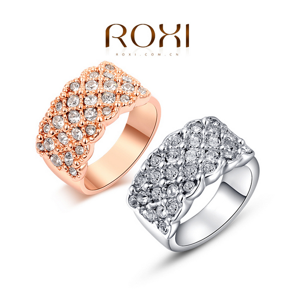 ROXI Classic Rings Rose Gold Plated Top Quality with Genuine Austrian Crystal Fashion Jewelry Classical Ring(China (Mainland))
