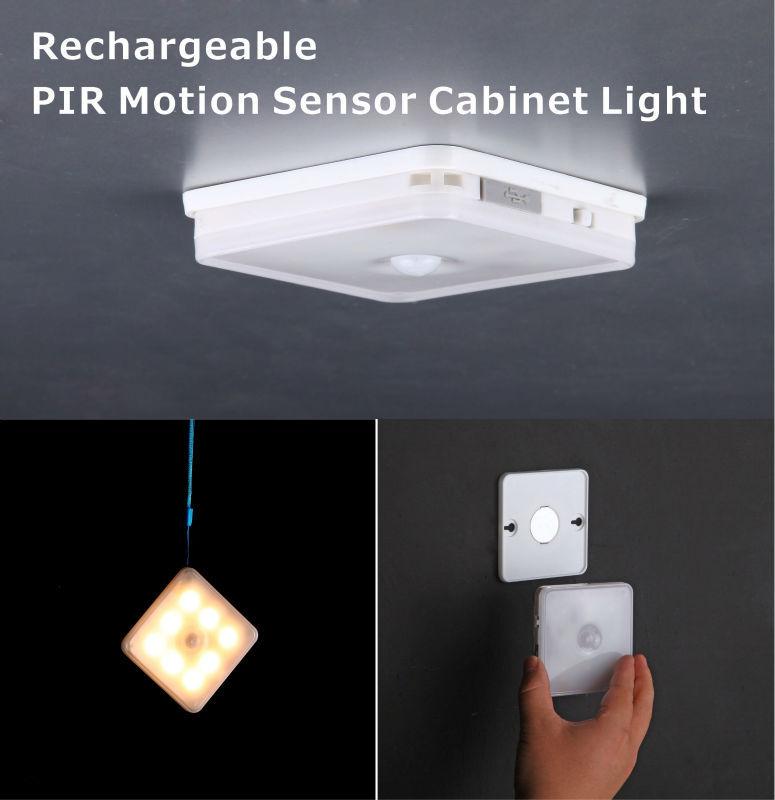 new design led rechargeable pir motion sensor light led. Black Bedroom Furniture Sets. Home Design Ideas