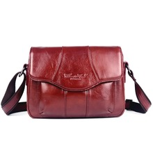 2015 new hot famous brands women's genuine leather bag female casual shopping travel messenger bag for women woman shoulder bag(China (Mainland))