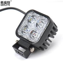 1pc 12w Car LED Light Offroad Work Light Bar for Jeep 4x4 4WD AWD Suv ATV Golf Cart 12v 24v Driving Lamp Motorcycle Fog Light(China (Mainland))