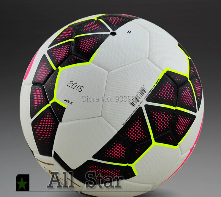 New Arrival!! 14-15 The Premier League Soccer Ball Official Size and Weight Football ball Particles Antiskid PU Leather Soccer(China (Mainland))