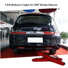 Для 2007 Honda Odyssey из светодиодов красного задний бампер отражатели света парковка предупреждение ночь Runing задние фонари