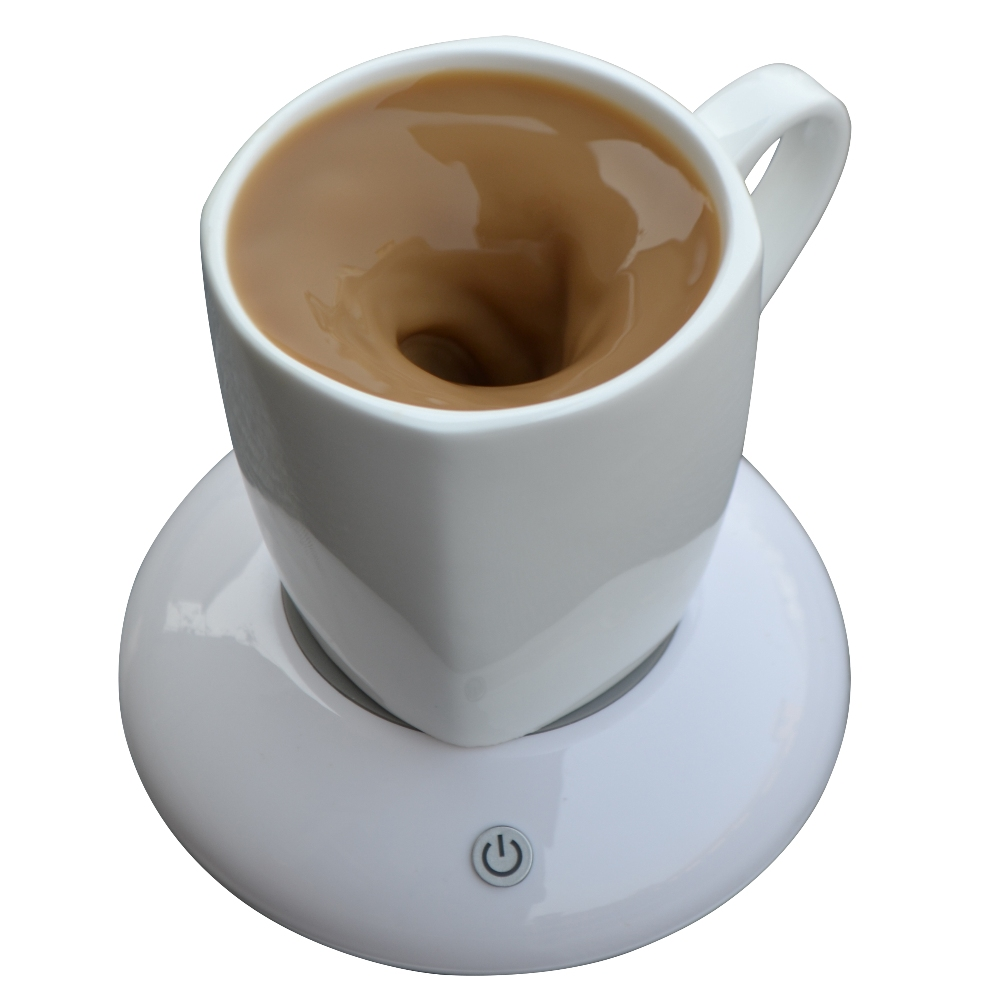 200ML Ceramic Vortexes MUG Drinkware USB Charge Automatic Mixing Coasters Magnetic Stirrer Office Home Milk Coffee Tea Smart Cup(China (Mainland))