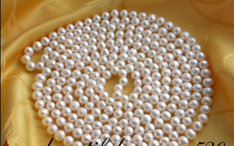 FREE SHIPPING  beautiful 100 9mm round white freshwater pearl necklace<br><br>Aliexpress