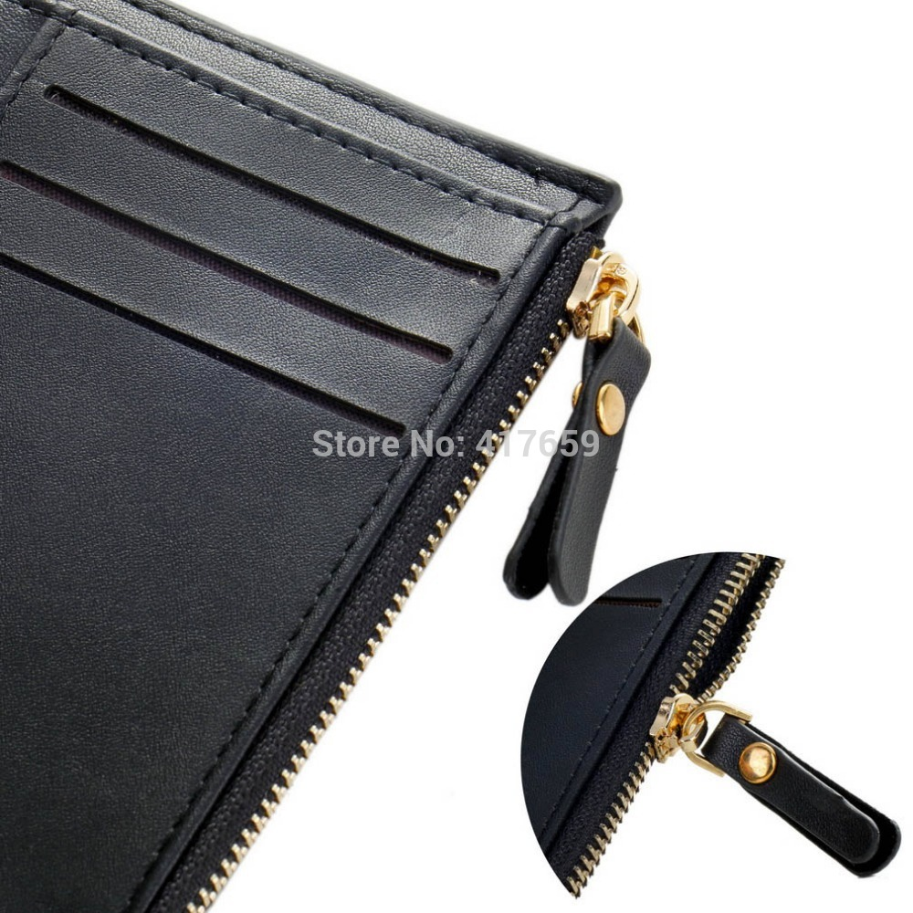 1pc fashion men wallets Faux Leather Bifold Wallet ID credit Card holder Coin Purse Pockets Clutch