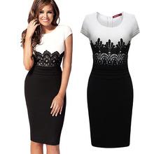 2014 Summer/Autumn Fashion new sexy Stitching lace dress evening dress Women's Clothes
