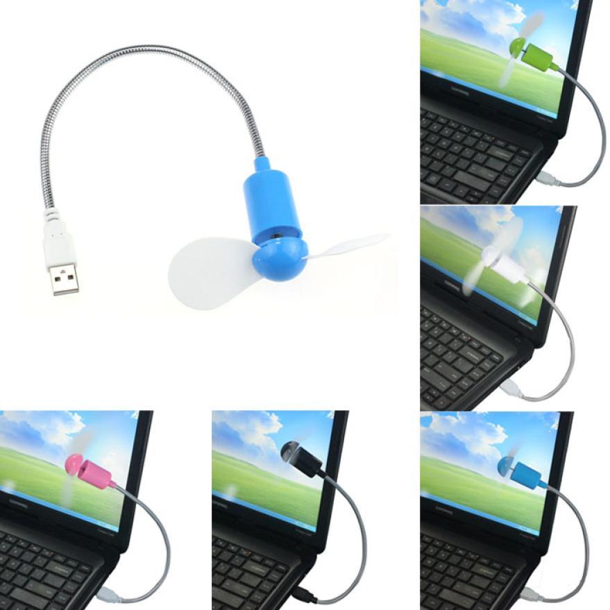 2016 New Flexible USB Mini Cooling Fan Cooler For Laptop Desktop PC Computer DEC18(China (Mainland))