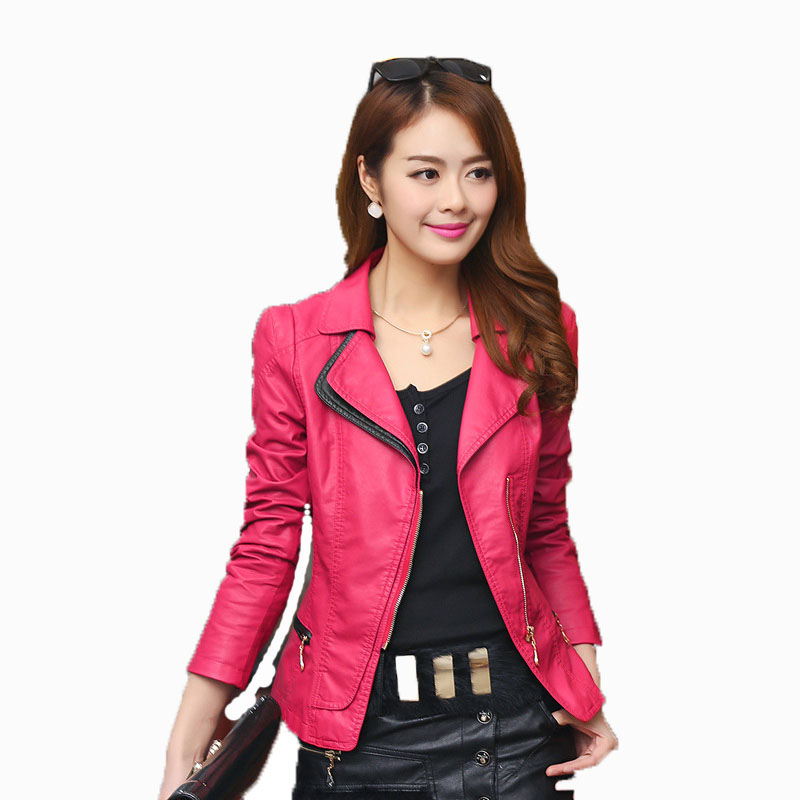 Genuine Leather Jacket Women Short Style Long Sleeve Natural Color For Free Shipping от Aliexpress INT