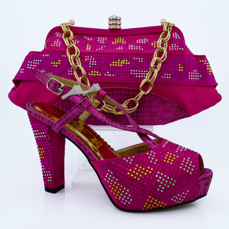 Special offer Italy matching green shoe and bag set with shinning stones 8cm high heel size38-43 H16012821(China (Mainland))