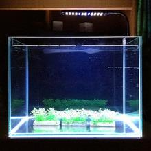 1pc 48 LED Aquarium Fish Plant 2 Mode Clip White &Blue Light Bulb Lamp Adjustable US Plug(China (Mainland))