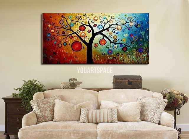 Large cheap modern abstract canvas art painting for sale for Large artwork for sale